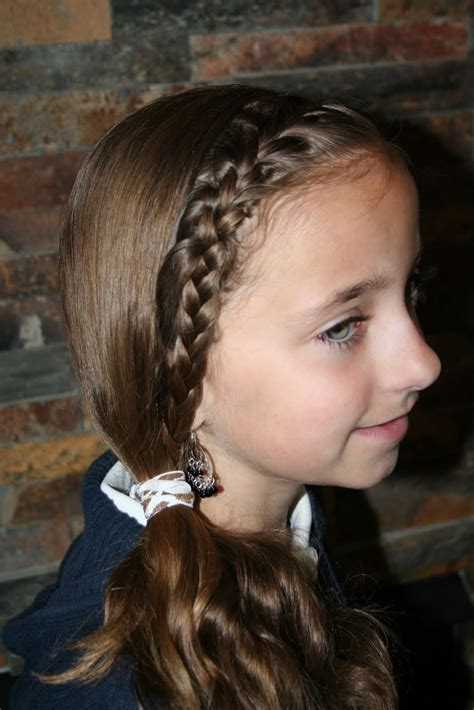 french front subtle side ponytail cute girls hairstyles