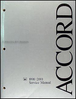 auto repair manual online 2002 honda accord instrument cluster 1998 2002 honda accord repair shop manual original