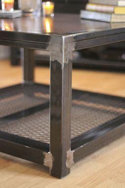 hand  steel  wood coffee table  industrial