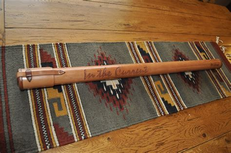hand crafted leather fly rod tubes  blake underwood