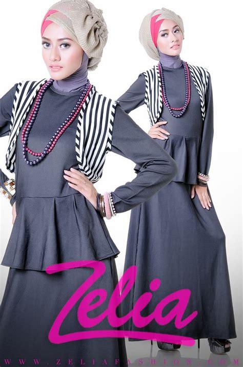 dandelion hitam baju muslim gamis modern