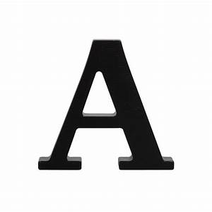 wooden letter a black With black wooden letters