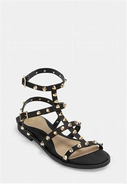Gladiator Sandals Studded Shoes Flat Missguided Flats