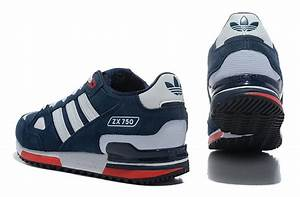 Exclusive Adidas ZX 750 Originals Running Shoes for Men Navy Blue/White, New Style