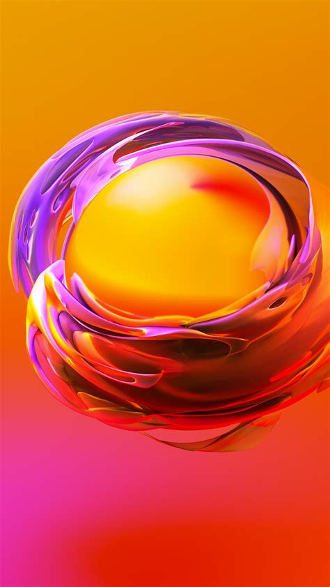 wallpaper sphere  orange yellow hd abstract