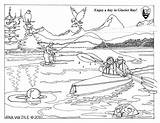 Coloring Pages Climate Change Sheets Sheet Park Colouring National Glacier Service Bay Kayakers Nps Learn Effect Seals August sketch template