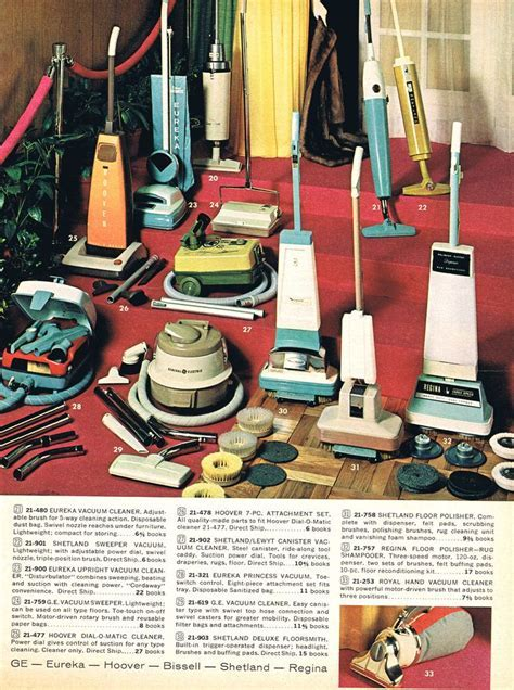Vacuum Cleaners, 1960's   My mom had vacuums similar to