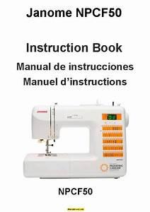 Janome Npcf50 Sewing Machine Instruction Manual