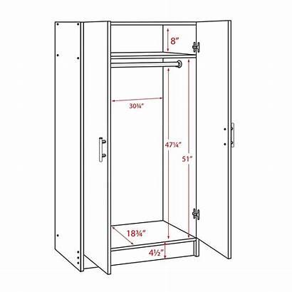 Closet Wardrobe Dimensions Cabinet Measurements Cabinets Elite