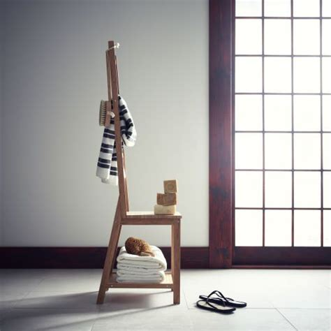 chaise porte serviette rågrund chair with towel rack bamboo towels products