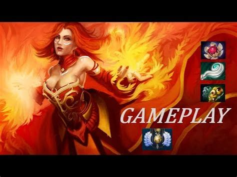 dota 2 the lina ranked gameplay commentary youtube