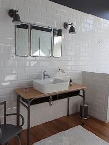 la salle de bain de style industriel masalledebaincom With meuble salle de bain indus