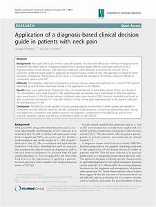 Pdf  Application Of A Diagnosis