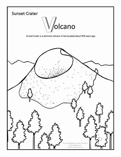 Sunset Coloring Crater Pages Beach Arizona Adult