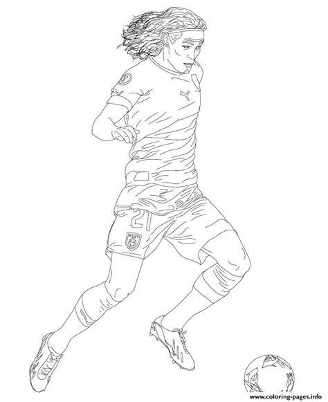 edinson cavani soccer coloring pages printable