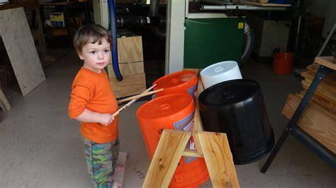 bucket drum kit  toddler  elizabeth  lumberjocks