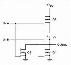 2-input Cmos Nor Gate Circuit Operation