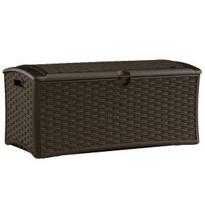 Suncast Medium Deck Box 73 Gallon by Deals Suncast 72 Gallon Resin Wicker Deck Box Dbw7000