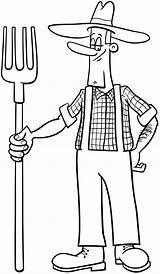 Colorear Granjero Fermier Dibujo Dessin Cartoon Desenho Coloring Fazendeiro Coloriage Dibujos Premium Boer Pitchfork Kleurplaat Farmer Colorare Contadino Animador Kolorowanka sketch template