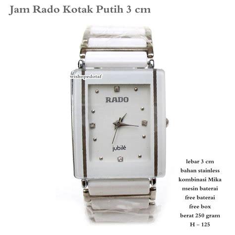 Kotak Jam Murah jual jam tangan murah pria rado kotak putih 3cm fullset di