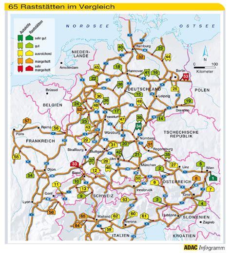 raststaetten deutschland karte
