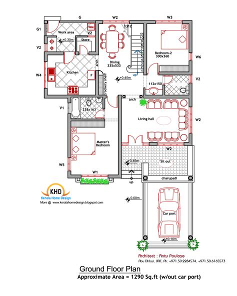 houses and floor plans house plan and elevation 2000 sq ft kerala home