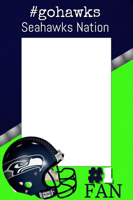 seahawks football photo prop frame template postermywall