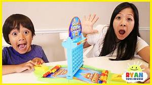 Ryan and Mommy Play Connect 4 Launcher Board Games for ...