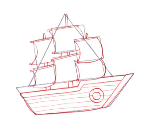 Ferry Boat Drawing Easy by 4 Ways To Draw A Boat Wikihow