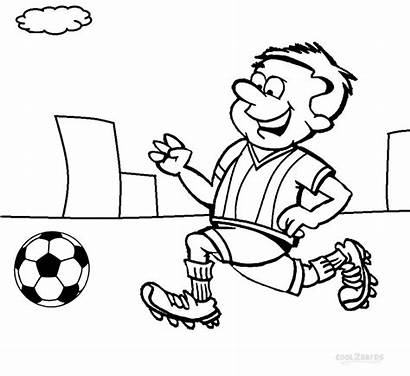 Football Coloring Pages Player Draw Players Drawing