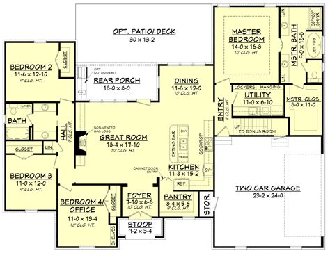 floor plans acadian house plan 142 1154 4 bedrm 2210 sq ft home plan