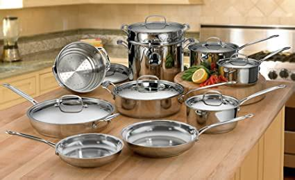 amazoncom cuisinart   chefs classic stainless  piece cookware set discontinued