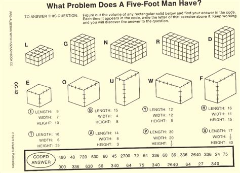 grade 7 math volume and surface area worksheets volume