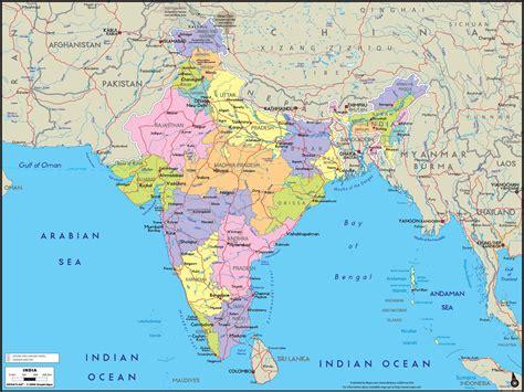 india political wall map mapscom