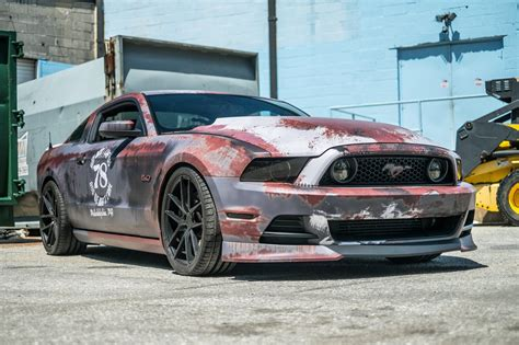 cool wrapped cars crazy rust wrapped ford mustang in maryland gtspirit