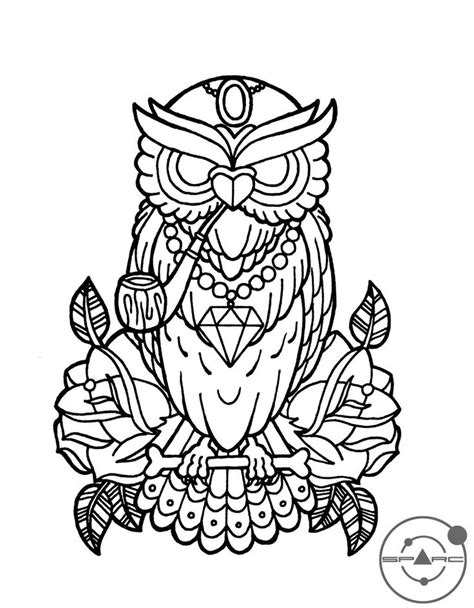 94 best SOVA images on Pinterest | Print coloring pages, Barn owls and Coloring books