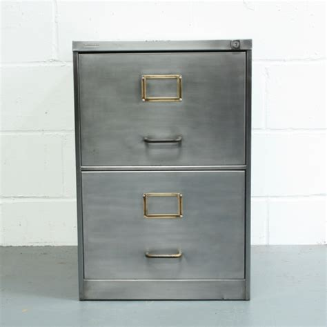filing cabinet handles replacement 2 drawer vintage stripped steel filing cabinet with brass