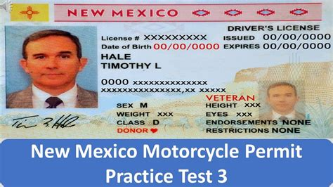 New Mexico Motorcycle Permit Practice Test 3 Youtube