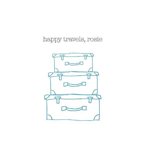 Personalised Happy Travels Card By The Green Gables