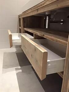 34 best meubles salle de bain images on pinterest for Meuble salle de bain bois