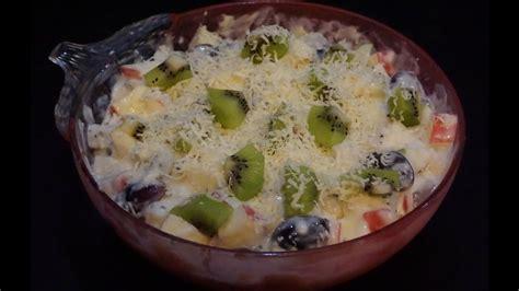membuat salad buah manis youtube