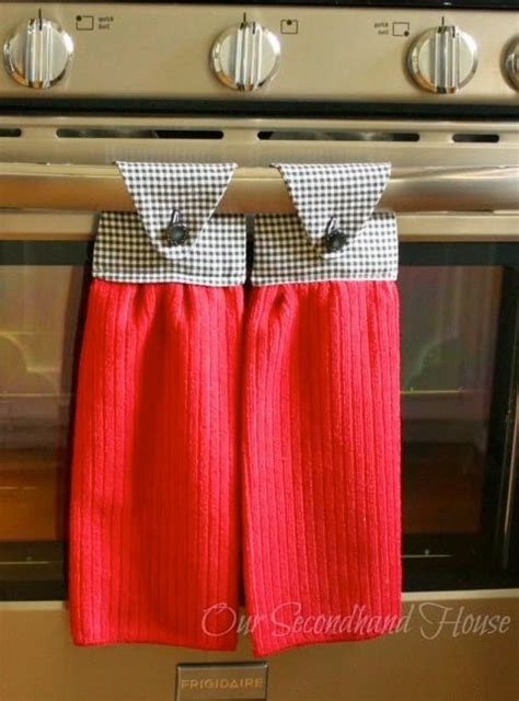 kitchen towel craft ideas how to make hanging kitchen towels plus 6 other handmade gift ideas diy kitchen gifts pinterest