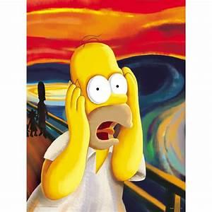 "Oriental Furniture The Simpsons Homer ""The Scream"" Wall Art"