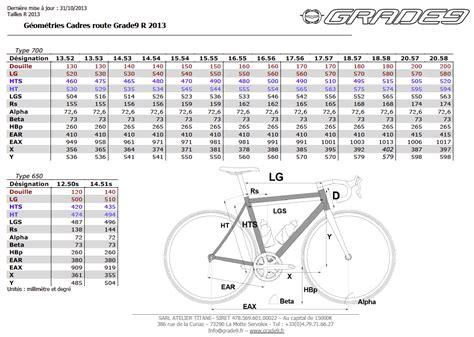 calcul taille cadre velo grade9 titanium bikes g 233 om 233 tries standard