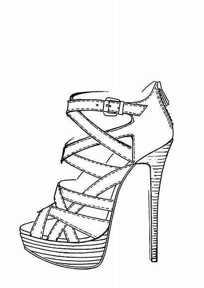 Shoes Heel Shoe Drawing Draw Drawings Sketch