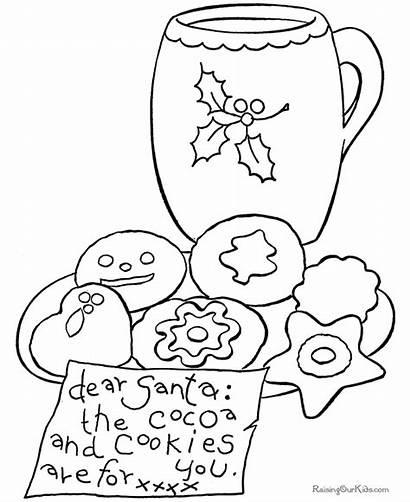 Coloring Christmas Printable Cookies Pages Cookie Santa