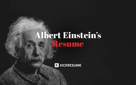 albert einsteins resume proves  geniuses struggle