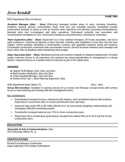 Sle Resume Summary Statements by Retail Assistant Manager Resume Objective 28 Images Sle