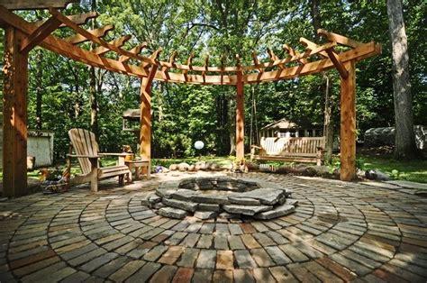circular pergolas round pergola outdoor pinterest