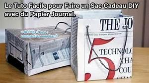 Faire Un Sac : comment faire un sac cadeau original en papier journal ~ Nature-et-papiers.com Idées de Décoration